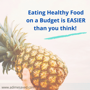 Eating healthy food on a budget