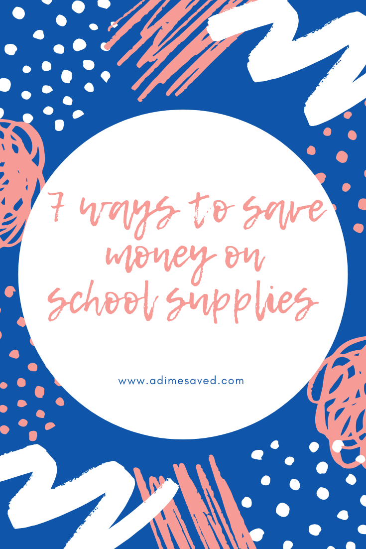 7 tips to save on back to school supplies pinterest