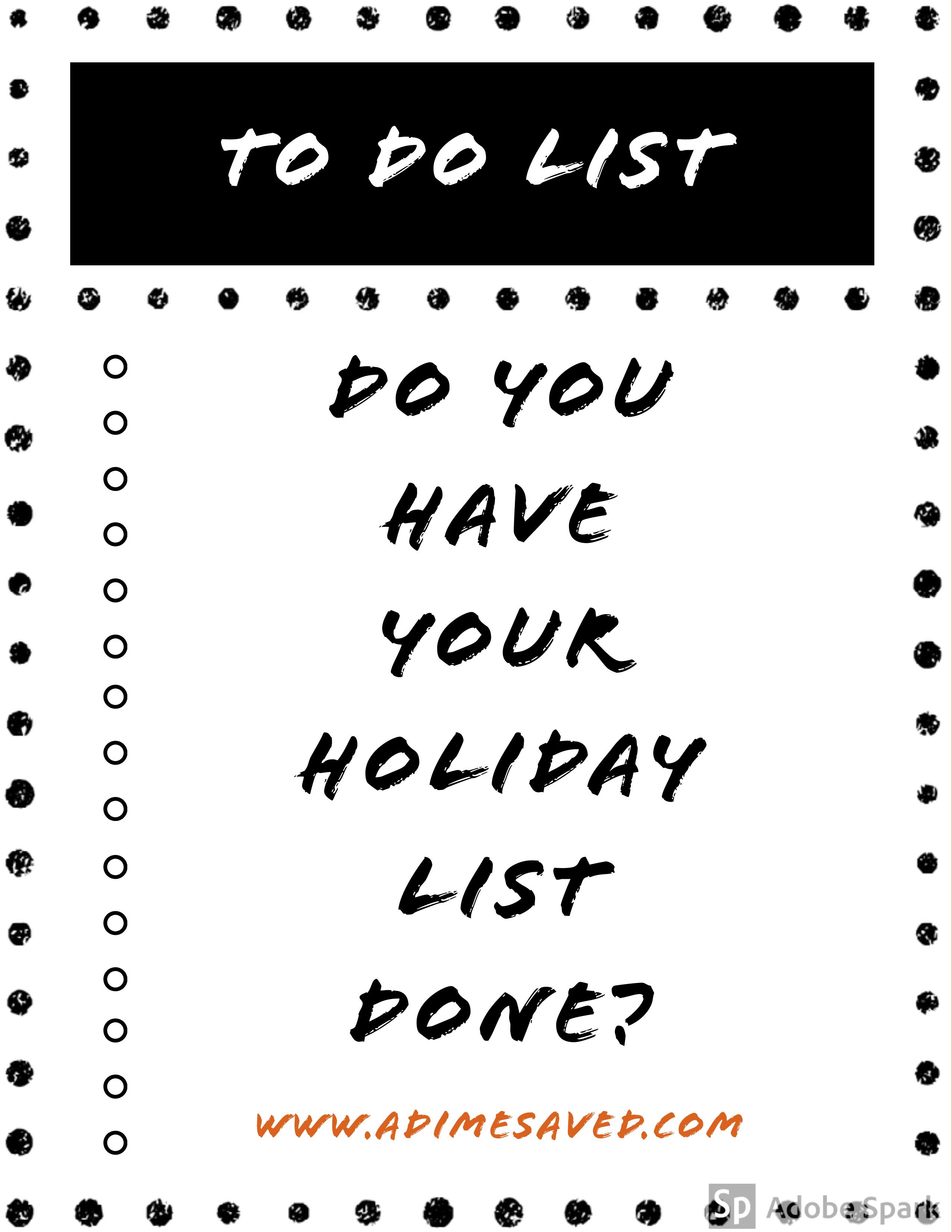 Holiday List Pin