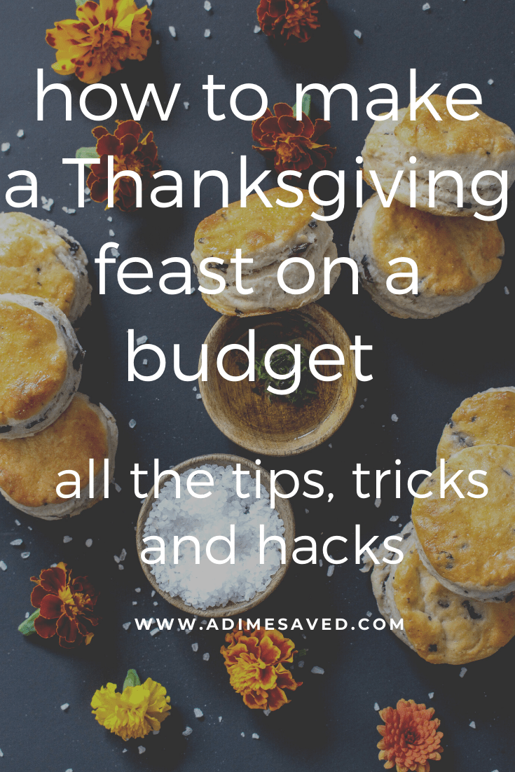 how to make a Thanksgiving feast on a budget