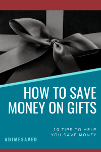 How to save money on gifts pin