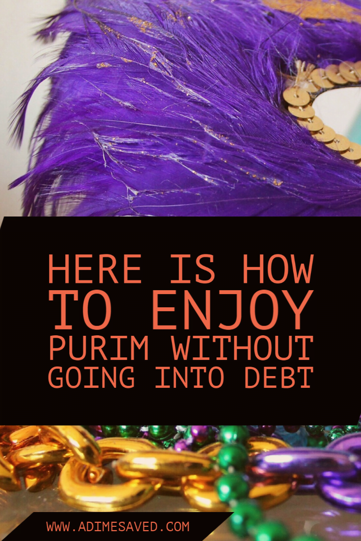 Purim mask and necklaces