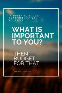 WHAT IS IMPORTANT TO YOU