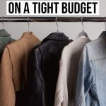 clothes shopping on a tight budget