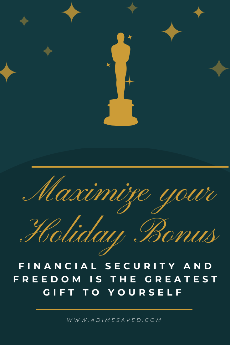 Maximize Holiday Bonus Pin