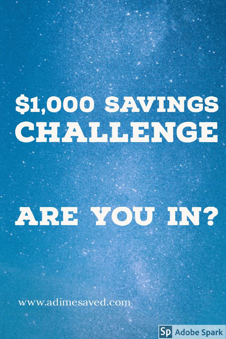 $1,000 Savings Challenge