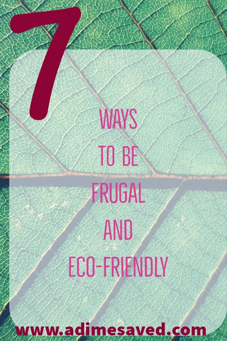 frugal and eco-friendly