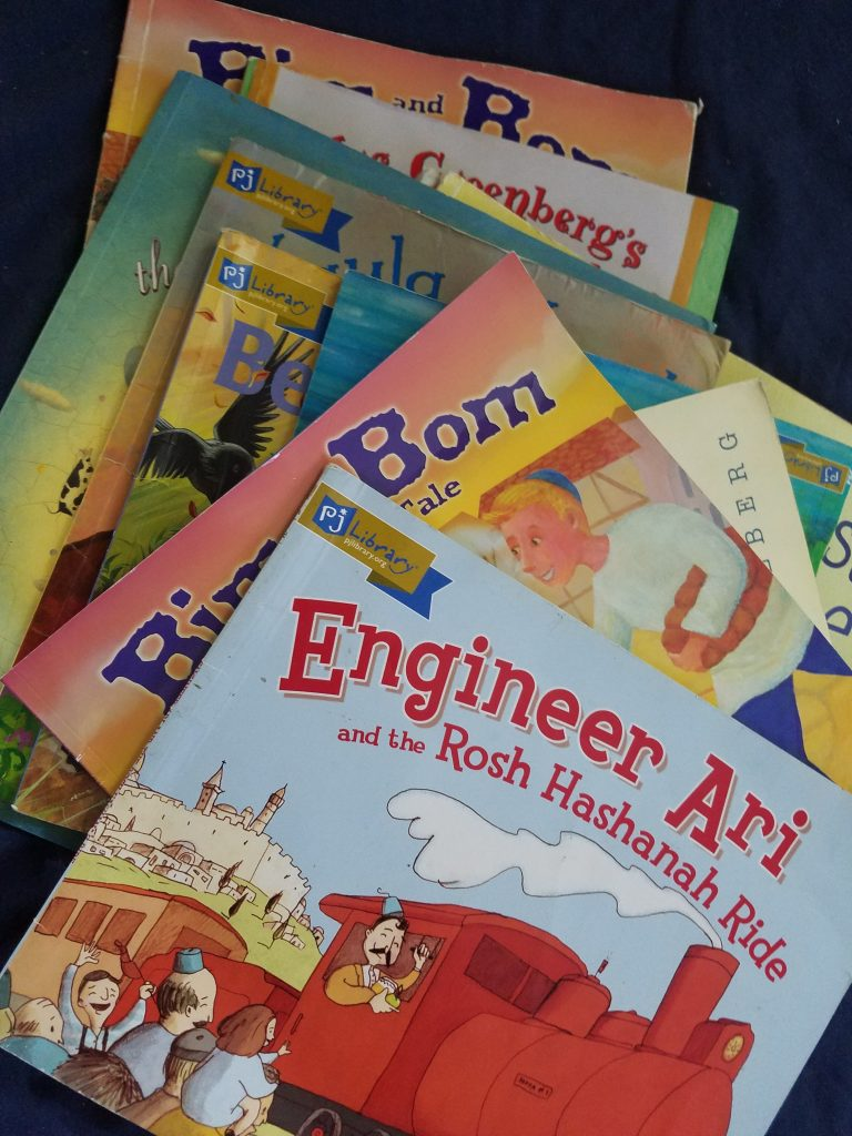 Free books for Kids that we got from P.J. Library