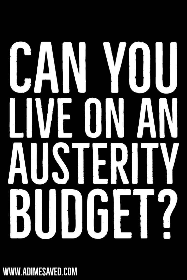 Austerity Budget Pin