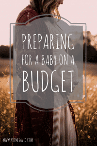 Preparing for a baby on a budget pin