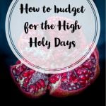 How to budget for the High Holy Days