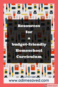 Budget Homeschool Curriculum
