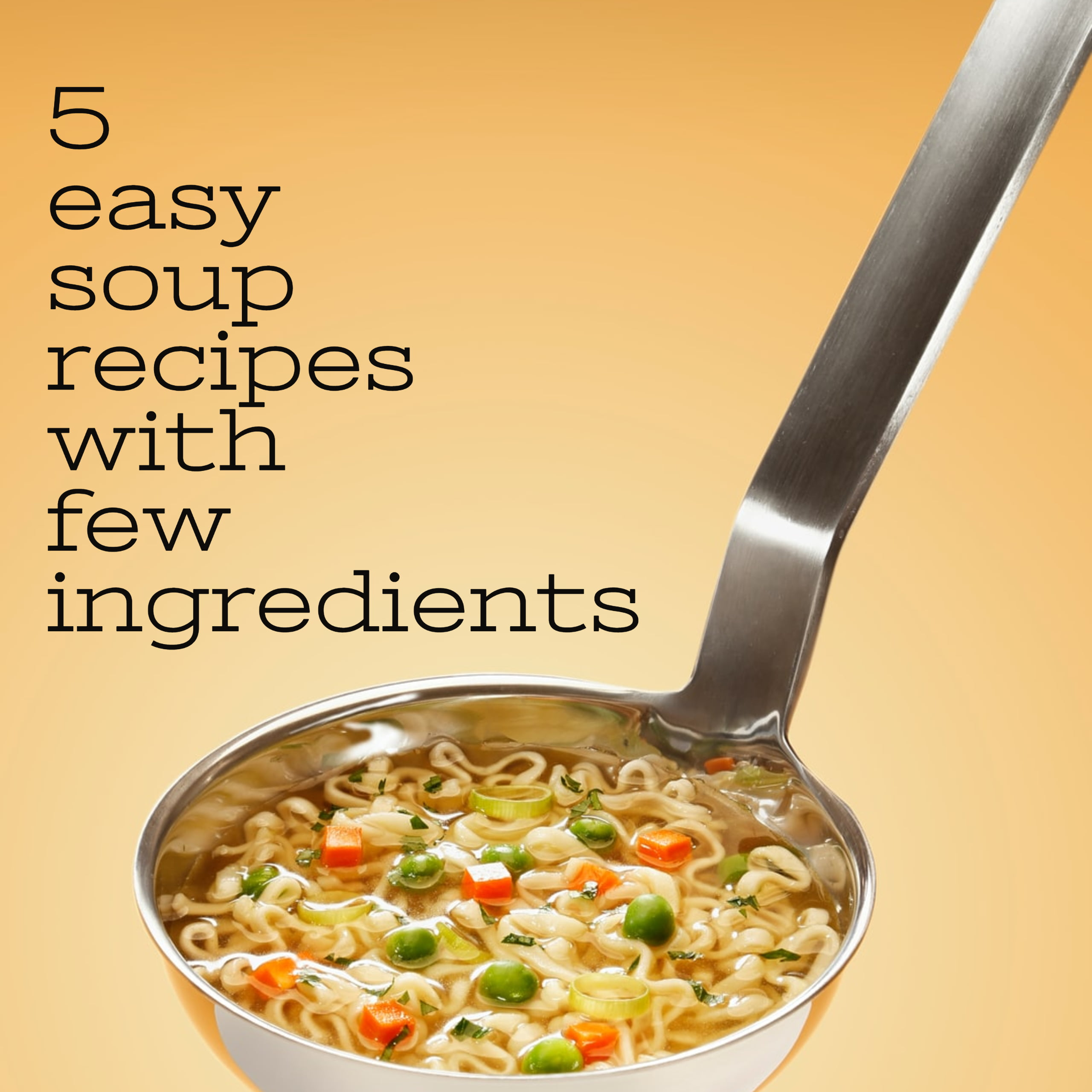 5 Easy Soup Recipes with few ingredients