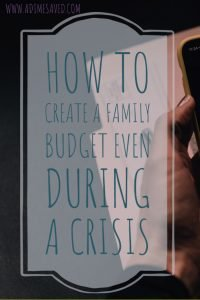 How to create a family budget even during a crisis