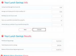 lunch savings 4 5.95