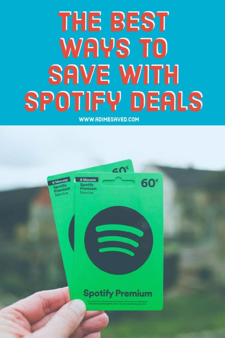 spotify deals pin