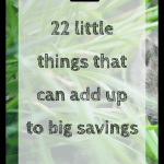 22 little things that can add up to big savings