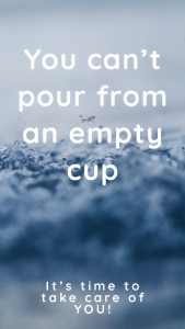 You can't pour from an empty cup pin