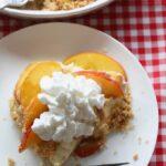 17. No Bake Peach Cheesecake slice