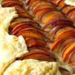 18. peach almond tart with vanilla bean