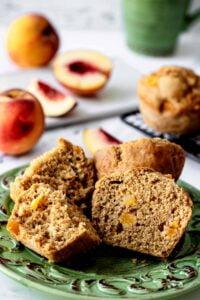 3 Peach Muffins Recipe Finished 5