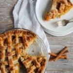 5 Peach Mango Pie Overhead of pie and slice 685x1024 1